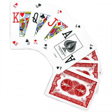 Carti de joc Bicycle Pro Poker Peek rosu 1