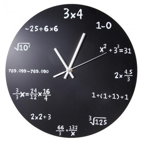 ceas de perete matematica negru