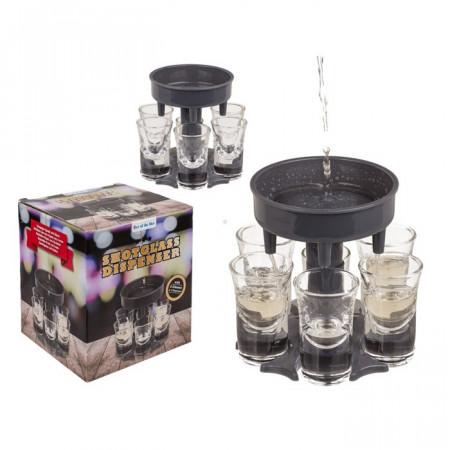 Dispenser pentru shoturi cu 6 pahare