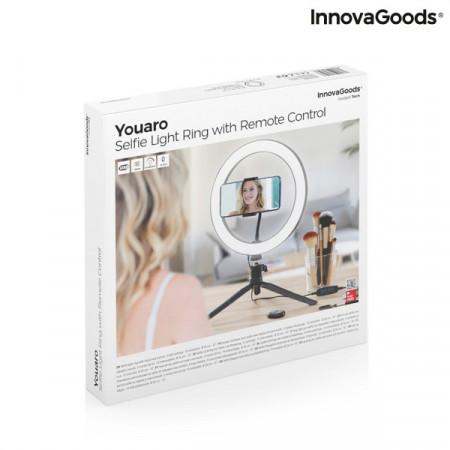 Kit Vlogging cu trepied iluminare LED, suport telefon si telecomanda in cutie