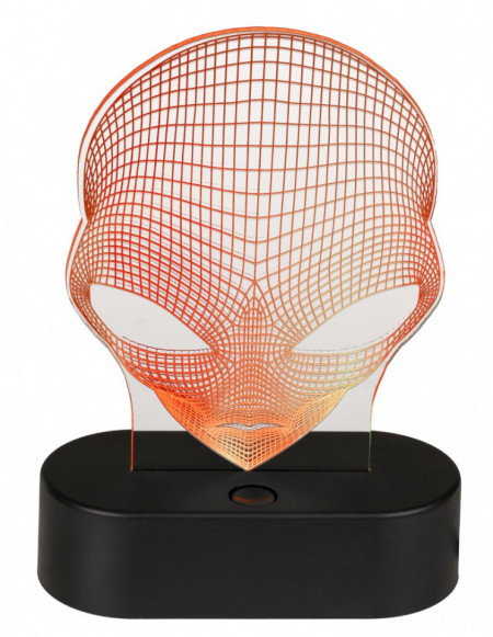 Lampa 3D Alien portocaliu