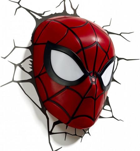 Lampa 3D Philips Spiderman pe perete