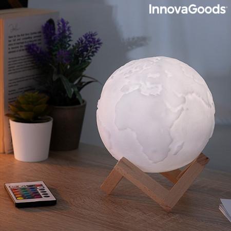 Lampa Glob Pamantesc 3D in culori cu telecomanda