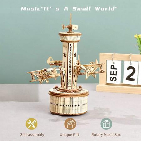 Puzzle 3D lemn Turn de control 1
