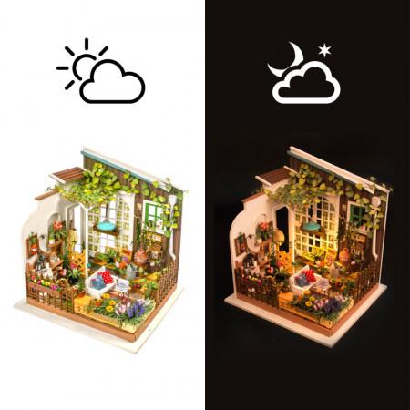 Puzzle 3D lemn Gradina de vara zi si noapte