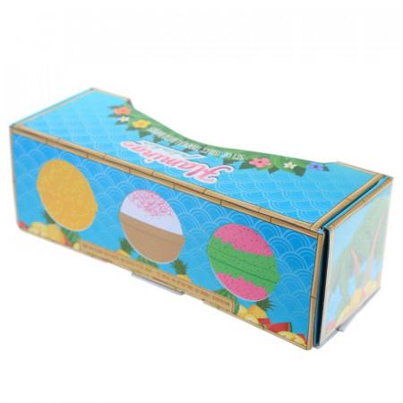 cutie cadou 3 bile efervescente pentru baie XXL Tropical