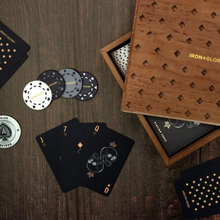 Set poker Deluxe lemn