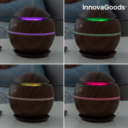 Umidificator si difuzor aromaterapie Walnut cu LED
