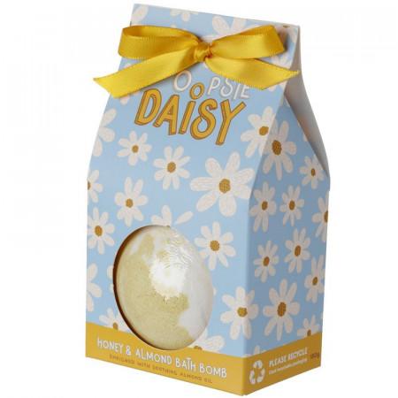 Bila efervescenta pentru baie XXL Oopsie Daisy cu miere si migdale in cutie cadou