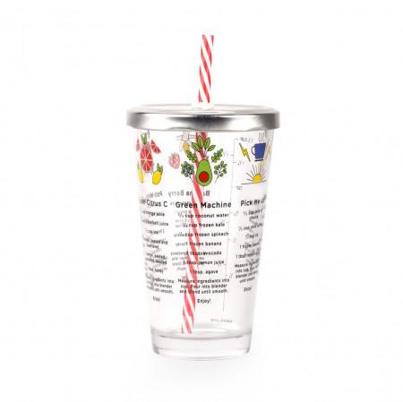 Pahar din sticla cu retete smoothie 2