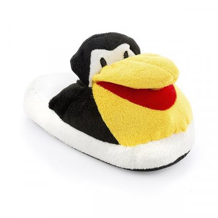 papuci pufosi pinguin 2