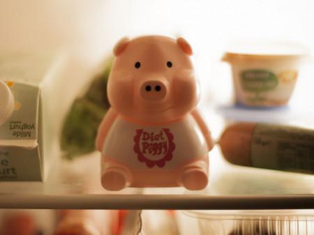 Porcusor roz pentru dieta in frigider