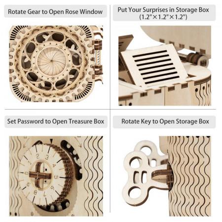 puzzle 3d din lemn cutie comori 4