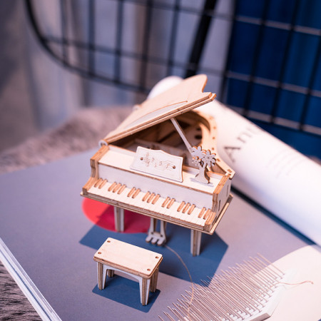 Puzzle 3D din lemn Pian 1