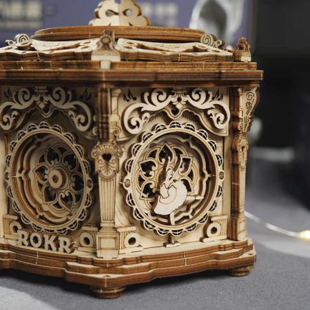 Puzzle 3D lemn Cutie muzicala Gradina secreta 1
