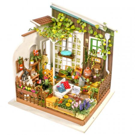 Puzzle 3D lemn Gradina de vara