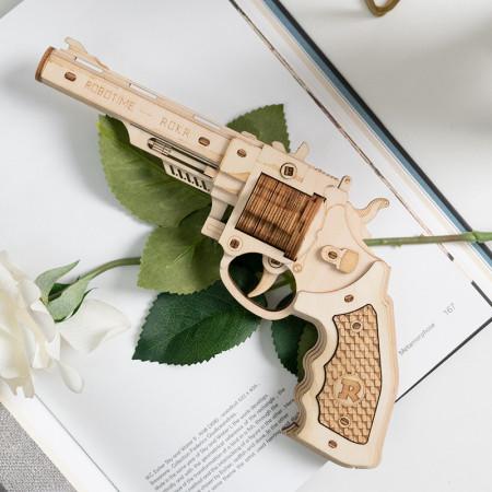 Puzzle 3D lemn Pistol 1