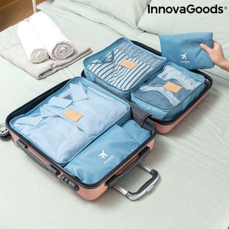 Set 6 genti albastre organizatoare pentru bagaj