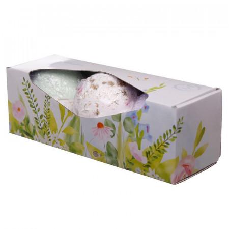 Set cadou 3 bile efervescente pentru baie XXL Floral in cutie