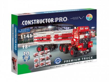 Set constructie Camion Premium 10 in 1 Pro, 1141 piese in cutie
