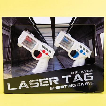 Set 2 pistoale Laser Tag in cutie