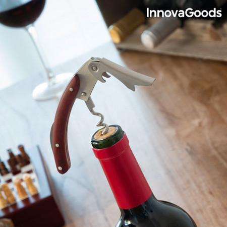 set sah din lemn si accesorii pentru vin 1