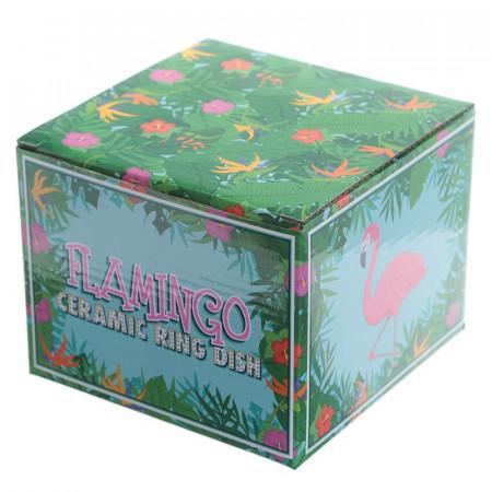 Suport bijuterii flamingo in cutie