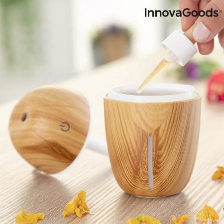 umidificator si difuzor de aromaterapie lemn natural 2