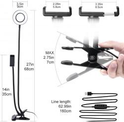 Kit Vlogging cu suport telefon si iluminare LED dimensiuni