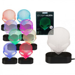 Lampa 3D Alien multicolora cutie