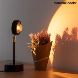 Lampa cu proiectie Apus de soare proiectie flori