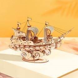 Puzzle 3D din lemn Corabie cu panze 2