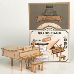 Puzzle 3D din lemn Pian si cutie