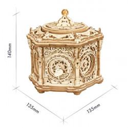 Puzzle 3D lemn Cutie muzicala Gradina secreta dimensiuni