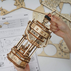 Puzzle 3D lemn Cutie muzicala Lampa victoriana 2