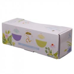 cutie cadou 3 bile efervescente pentru baie XXL Floral