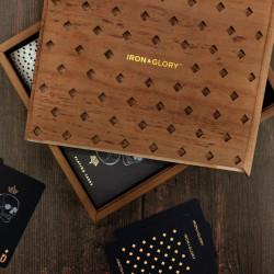 Set poker Deluxe cutie din lemn