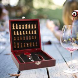 Set sah si accesorii vin Deluxe