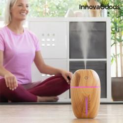 umidificator si difuzor de aromaterapie lemn natural 3
