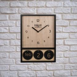 Ceas din lemn cu calendar