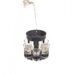 Dispenser pentru shoturi cu 6 pahare umplute egal
