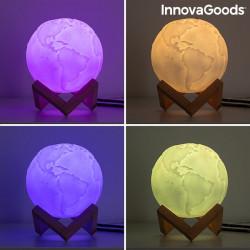 Lampa Glob Pamantesc 3D multicolora