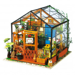 Puzzle 3D din lemn Casuta cu flori