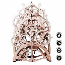 puzzle 3d din lemn ceas cu pendul 4