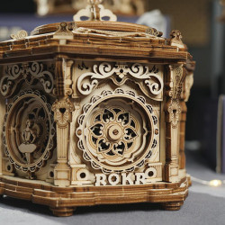 Puzzle 3D lemn Cutie muzicala Gradina secreta detaliu