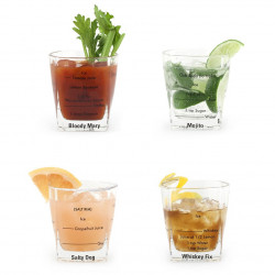 Set 4 pahare cocktail cu retete