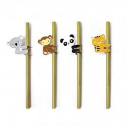 Set paie vesele din bambus