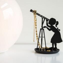 Suport bijuterii fetita cu telescop