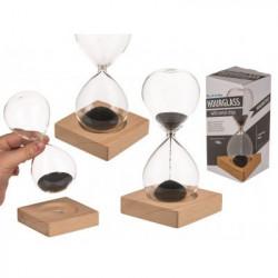 clepsidra magnetica pe suport de lemn si cutie