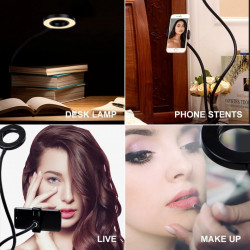modalitati de folosire Kit Vlogging cu suport telefon si iluminare LED